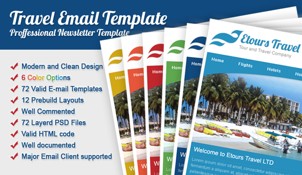 Etours Travel Email Template